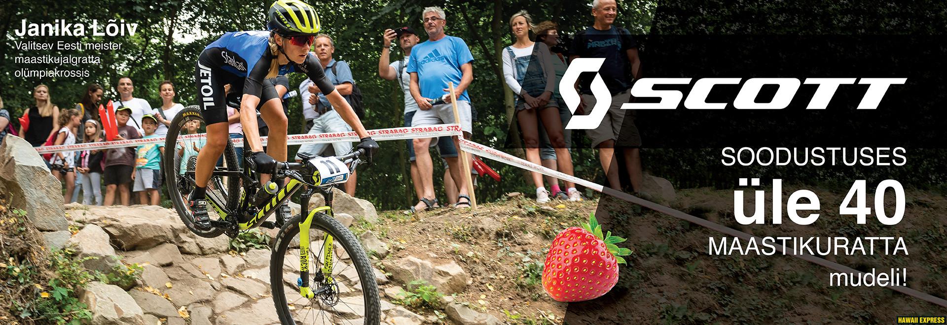 Scott MTB maasikas