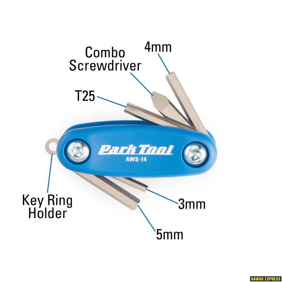 Mini Folding Hex//Screwdriver Set Tool Park Tool AWS-14